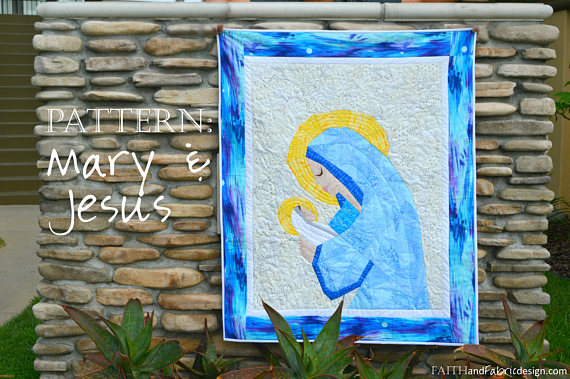 mary and jesus quilt pattern catholic