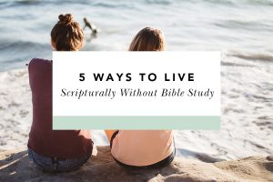 how to learn scripture without bible study
