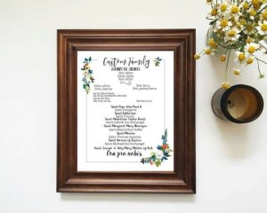 custom litany of saints artwork print