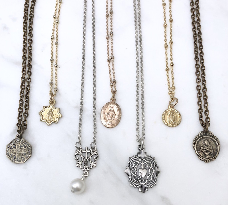 catholic vintage medals for men