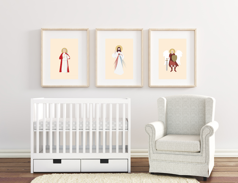 catholic nursery decor
