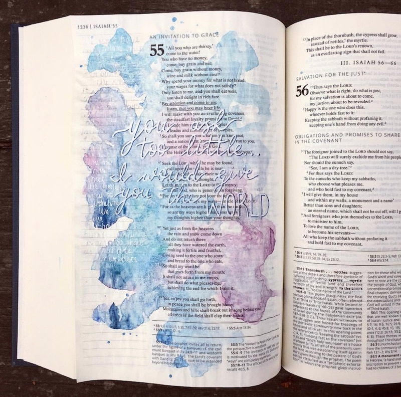 how to paint in a bible