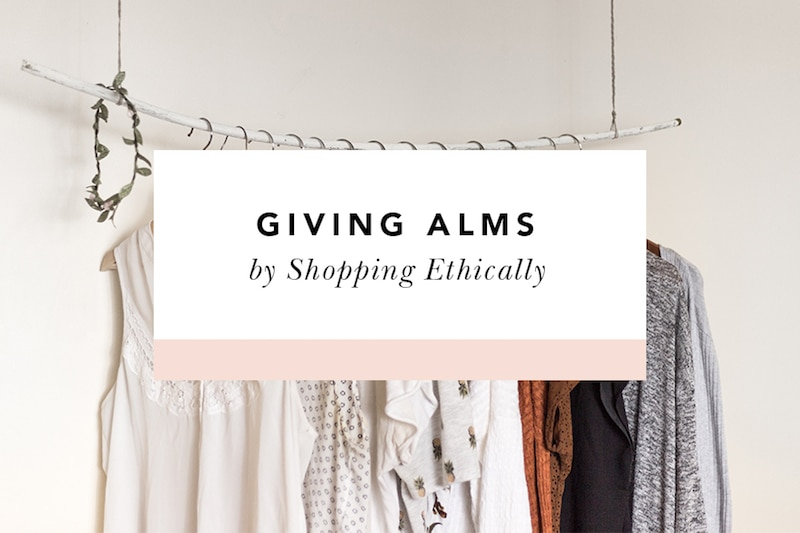 how to give alms by shopping fair trade