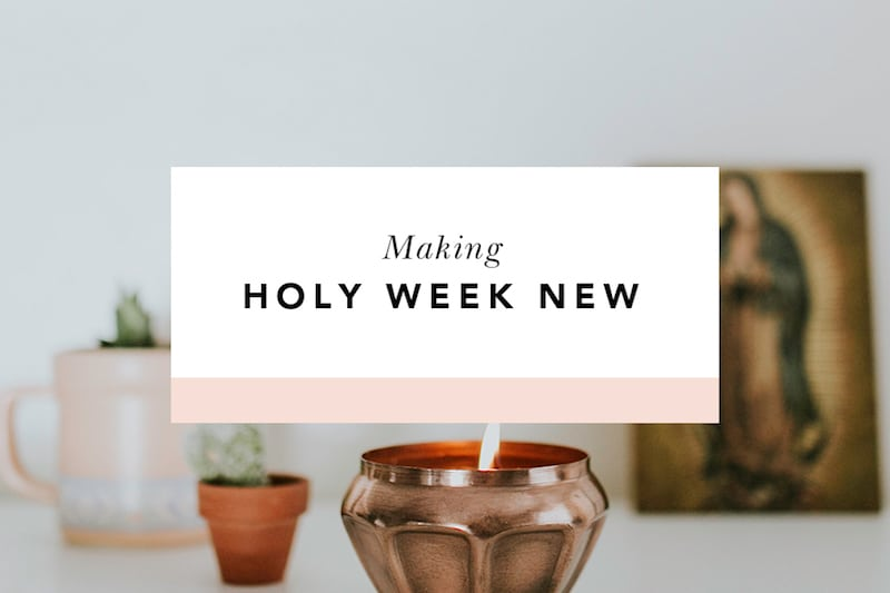 holy week activities and ideas