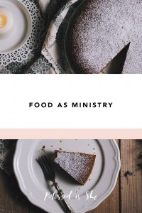 how to minister through food