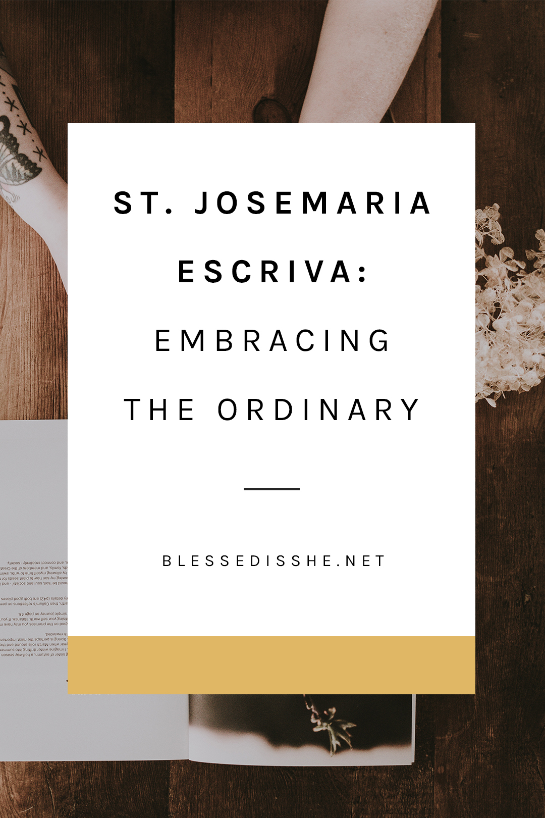 st josemaria escriva ordinary work