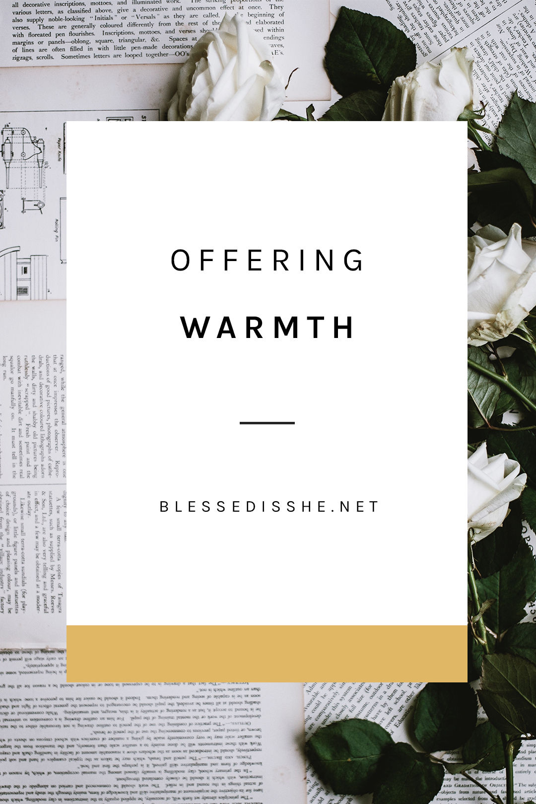 offering warmth and welcome