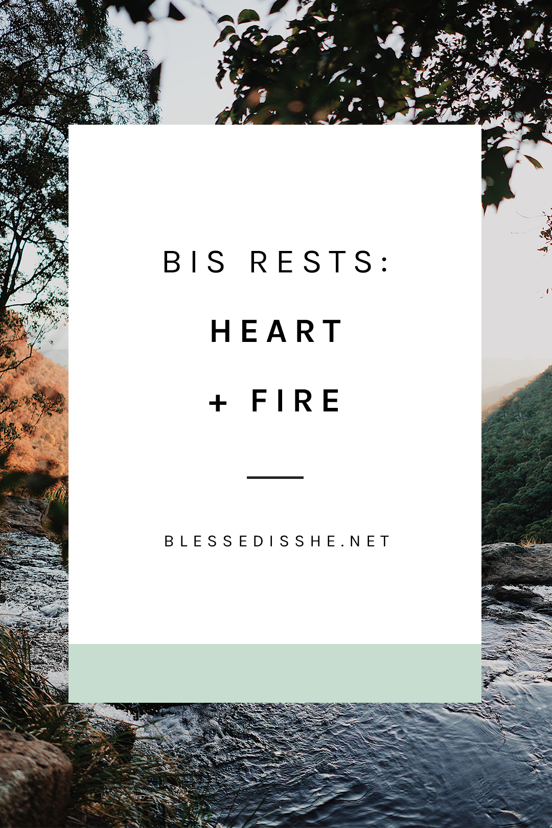 sunday reflection catholic bis rests Heart + Fire