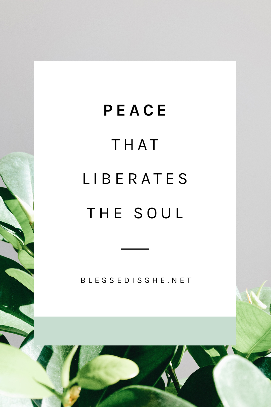 peace that surpasses all understanding