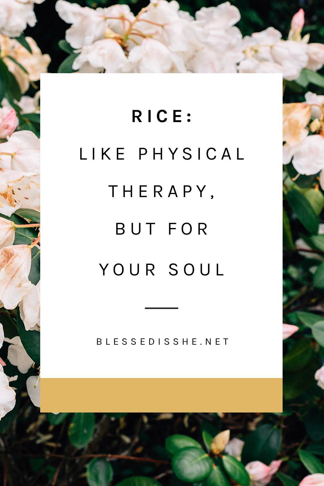 rice physical therapy spiritual therapy