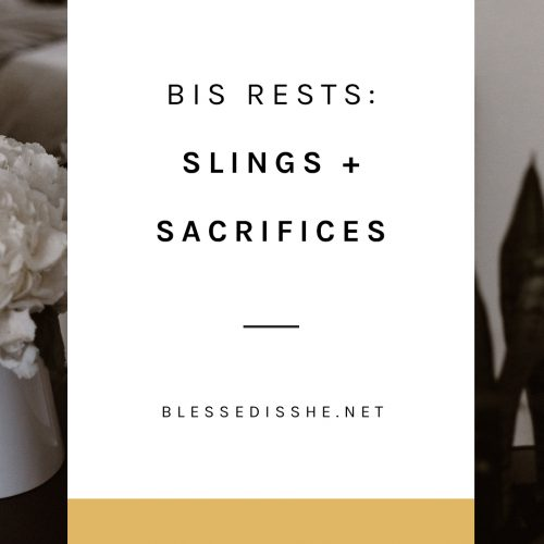 bis rests slings + sacrifices
