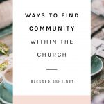 how to find a church community