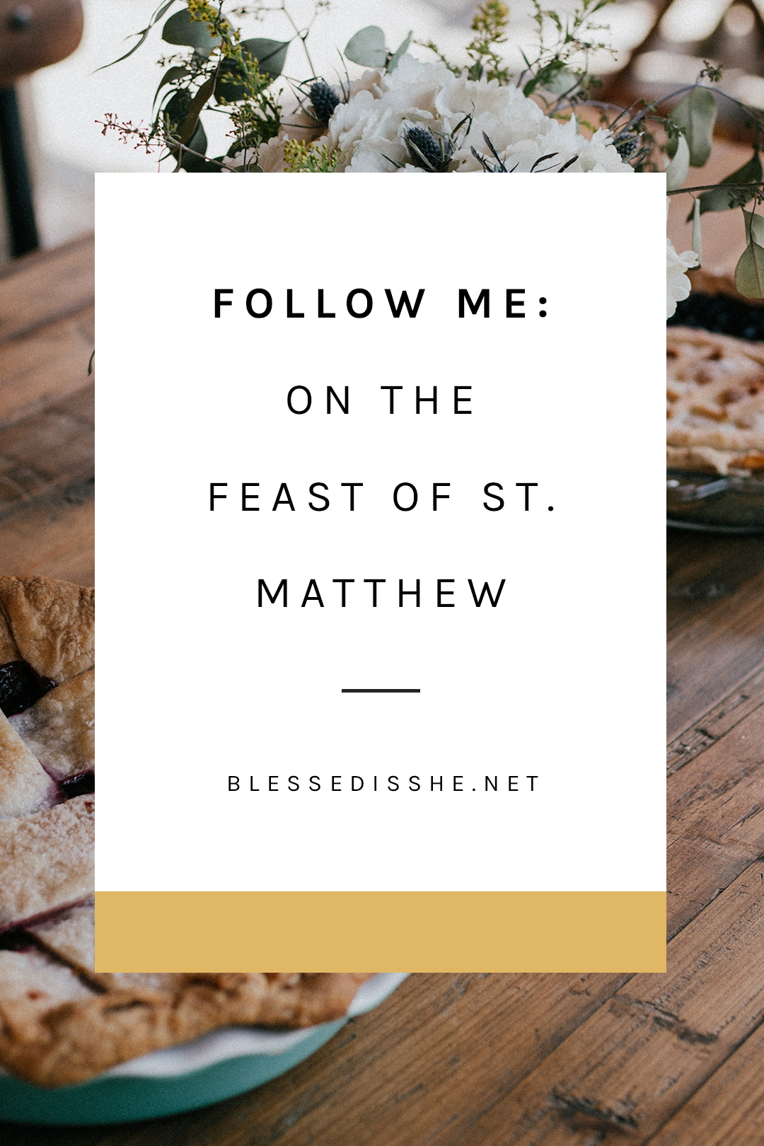 feast of st matthew reflection