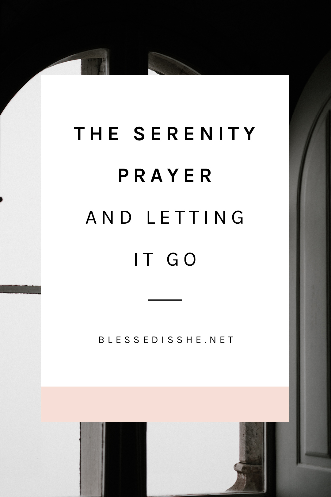 serenity prayer reflection