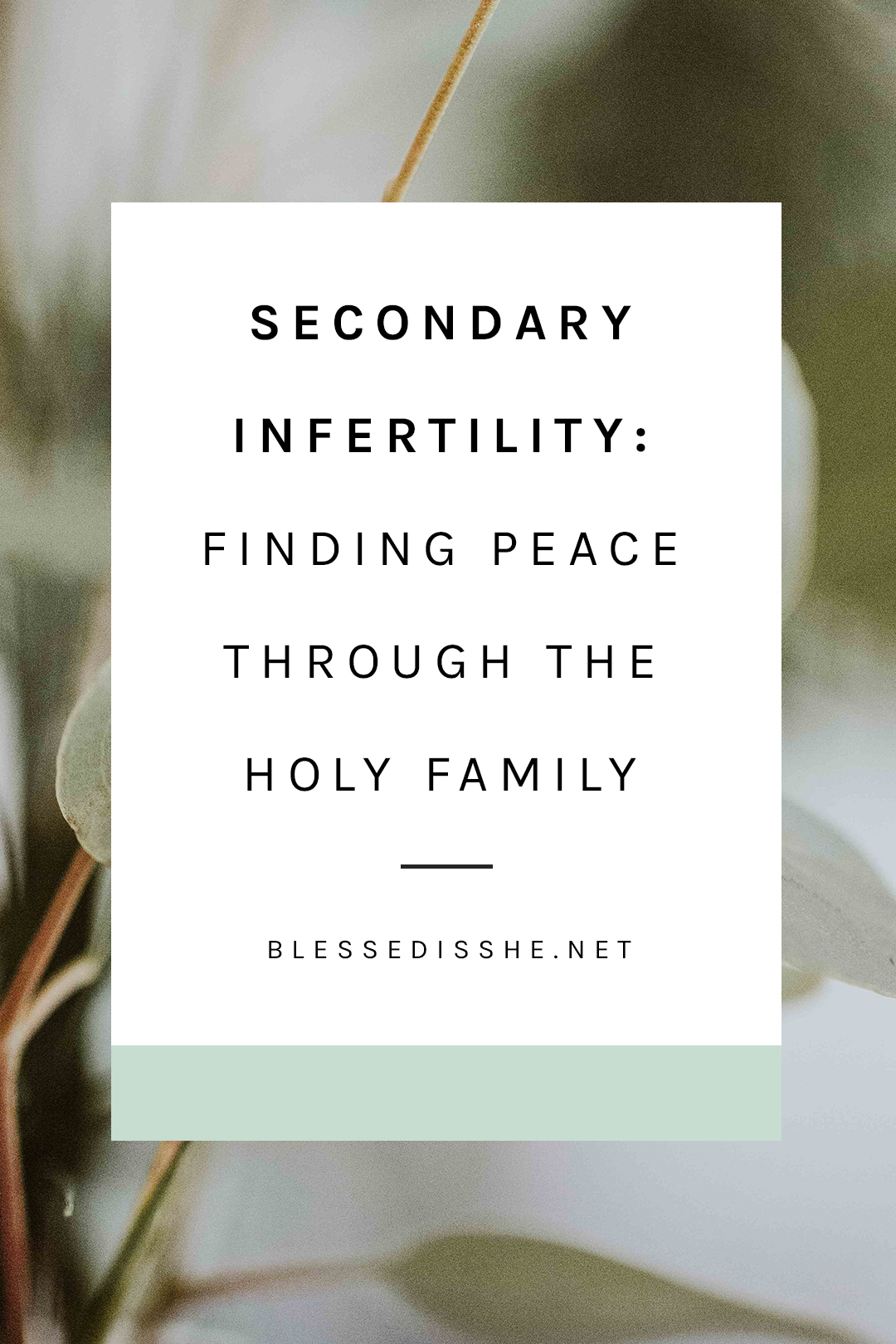catholic secondary infertility