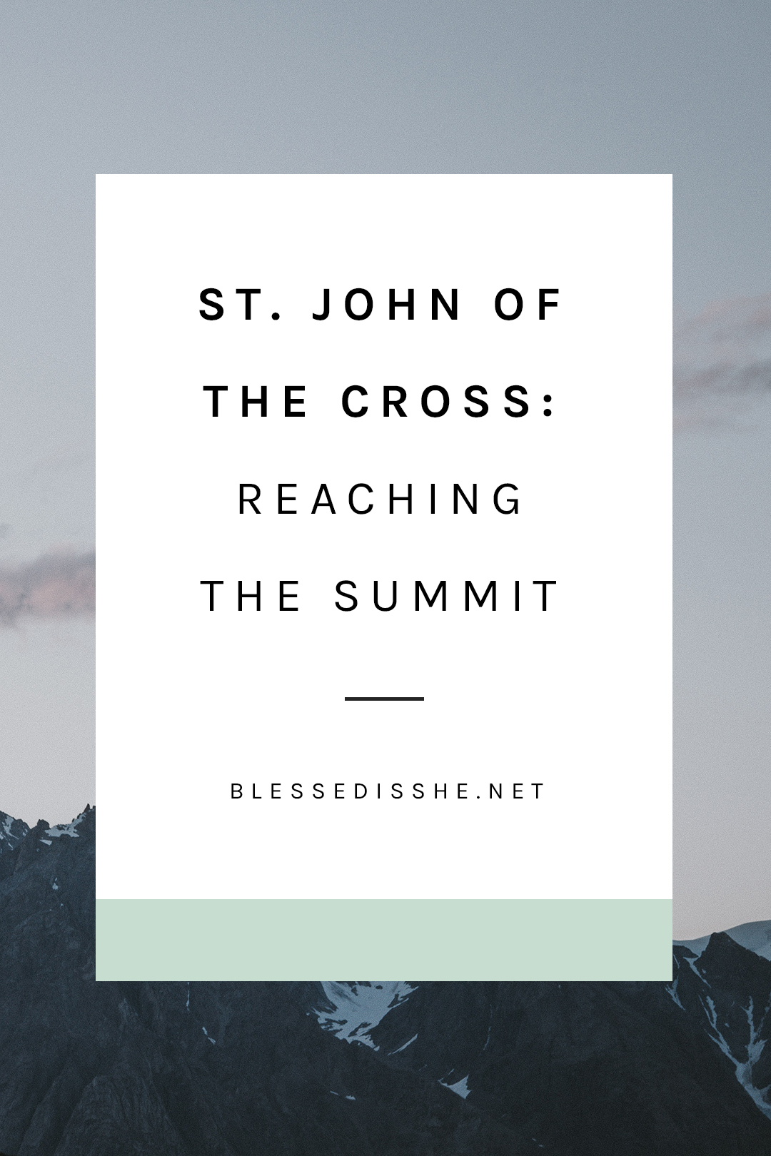 st. john of the cross feast day reflection