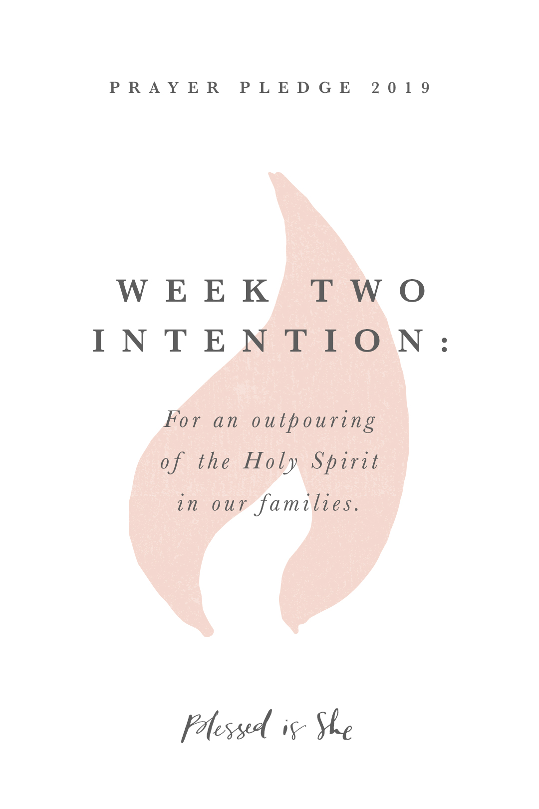 2019 prayer pledge week two intention