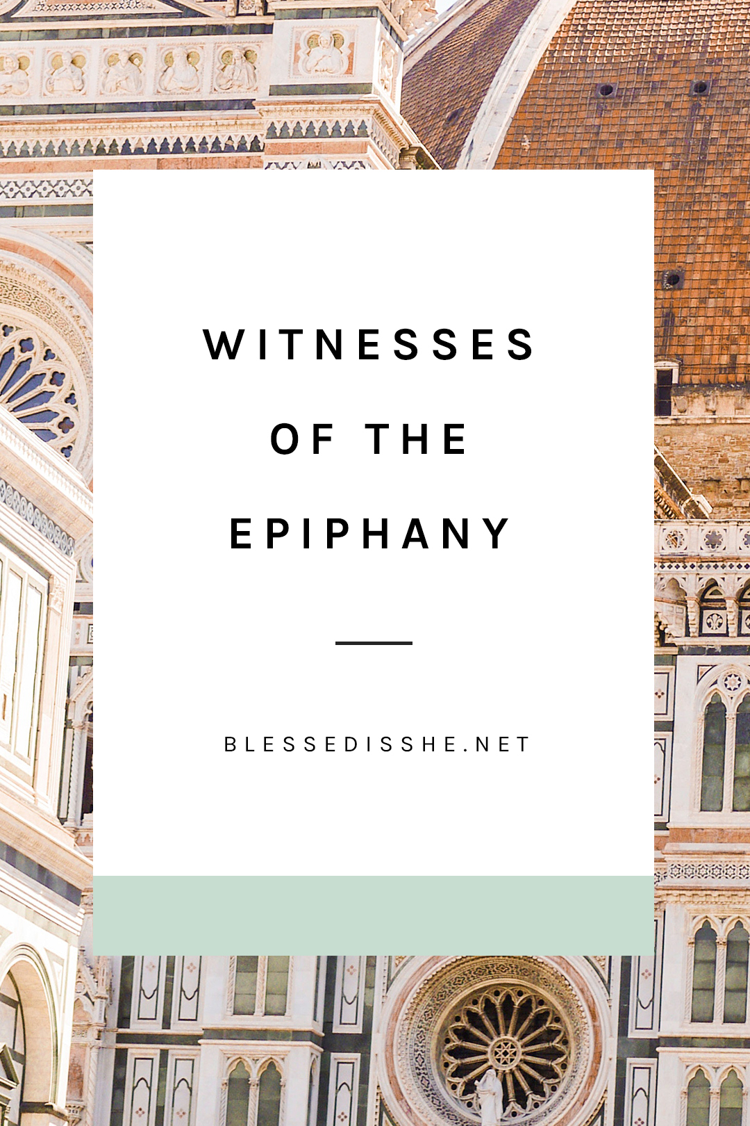 reflection for the feast of the epiphany