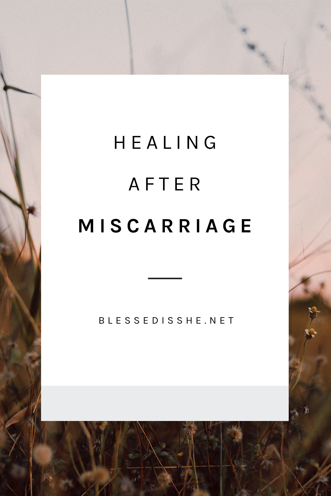 how to heal after miscarriage