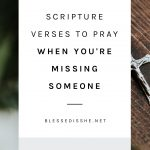 scripture verses to pray during times of loss