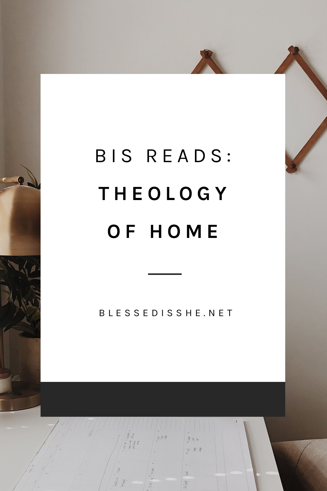 theology of home book review