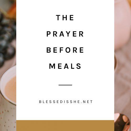 catholic prayer before meals