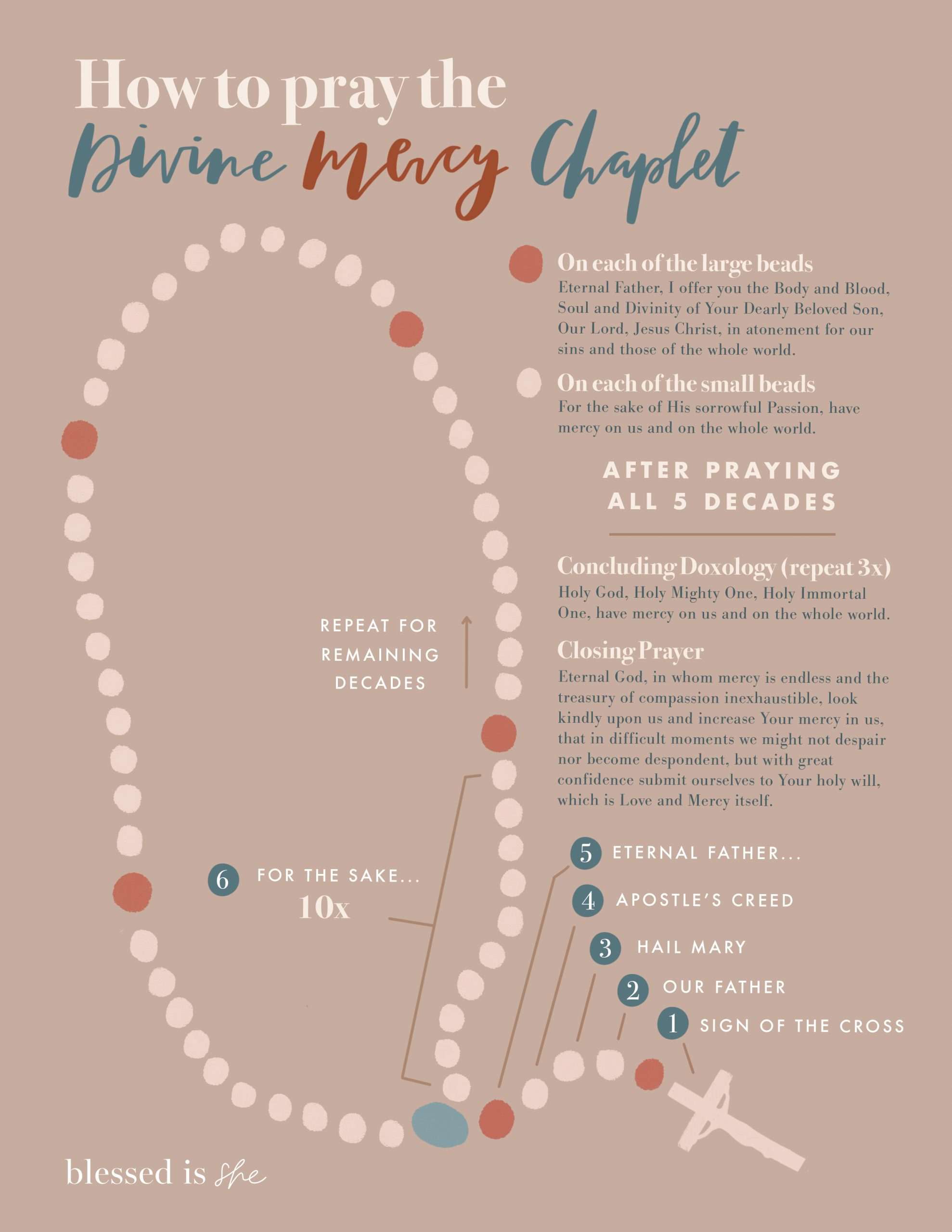 what is the divine mercy chaplet saint faustina